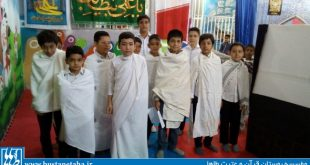 مراسم نمادین طواف خانه خدا در روز عید قربان